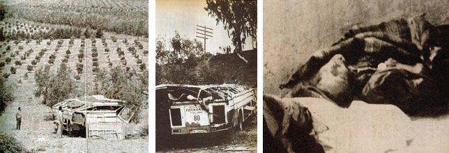 Fotos del accidente del autobús en la curva de Las Doblas, 1973