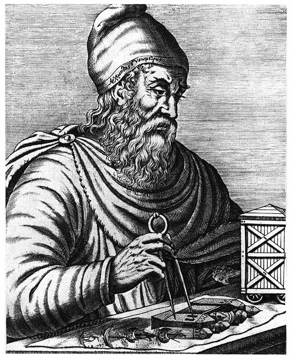 Arquímedes (grabado imaginado de 1586)