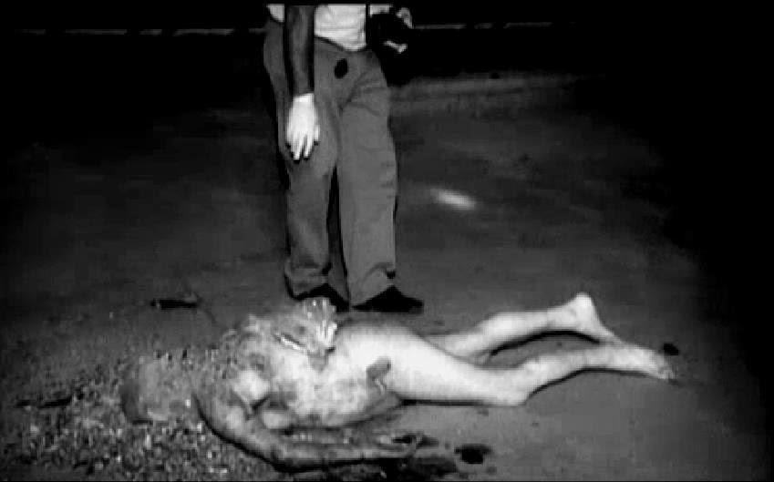 Fotografía policial del asesinato ritual en Jaén (2006)