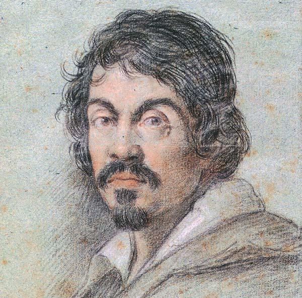 Caravaggio (retrato de Ottavio Leoni)