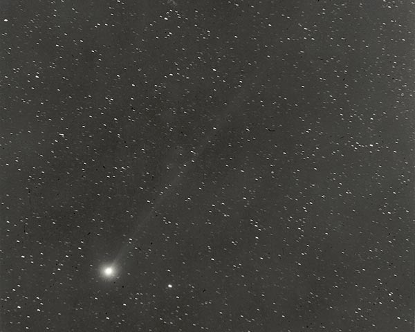 El Cometa Swift Tutle fotografiado en 1992 por Tim Spahr y Carl Hergenrother en Arizona
