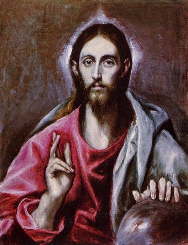 El Greco: Cristo Salvador del mundo (1600)