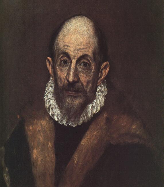 El Greco: Retrato de un caballero anciano (1595-1600)