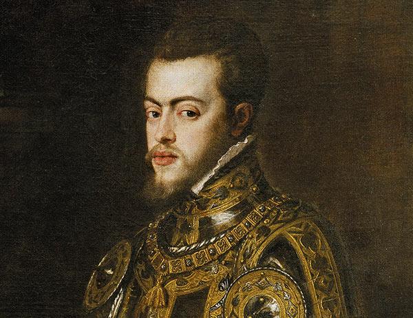 Felipe II (Tiziano, 1551 -parcial-)