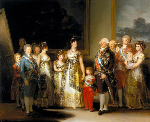 La familia de Carlos IV (Francisco de Goya, 1800)