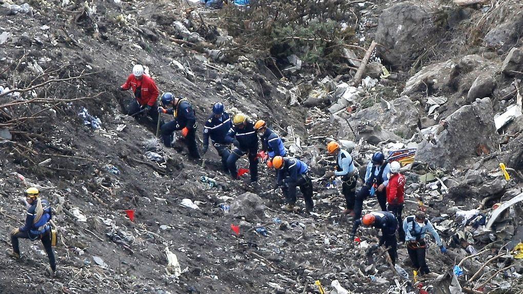 El vuelo 9525 de Germanwings: equipos de rescate