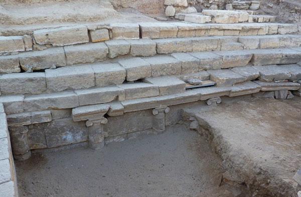 Hierápolis: escaleras para los peregrinos