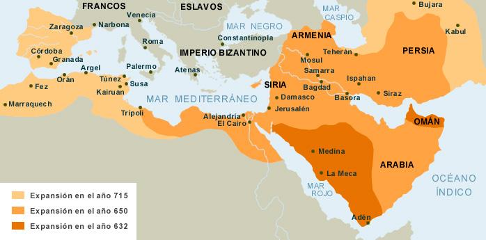 Islam: máxima expansión (año 715)