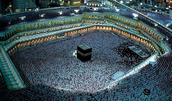 La Kaaba: fotografía aérea