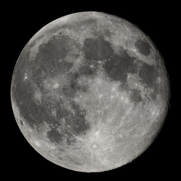 La Luna vista desde la Tierra