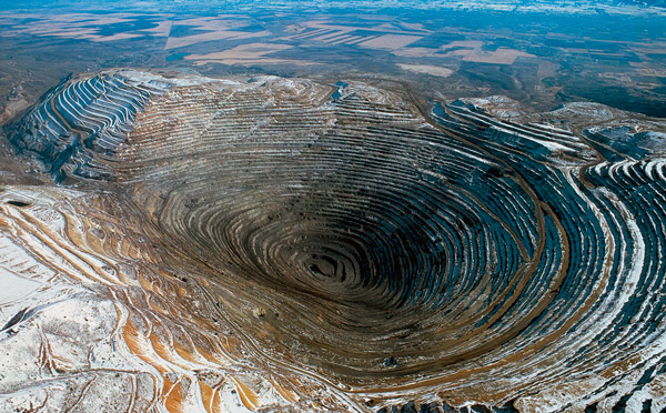 Mina del cañón de Bingham (fotografía aérea)