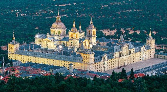 El monasterio de El Escorial: foto aérea