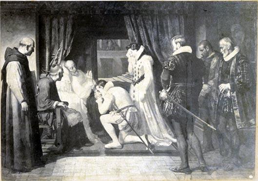 Postal de la muerte de Felipe II