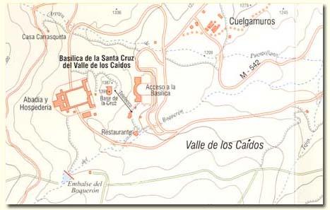 Corte de un plano militar sobre el Valle