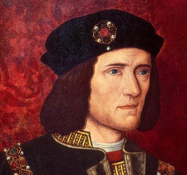 Ricardo III. Corte de un cuadro anónimo de su época.