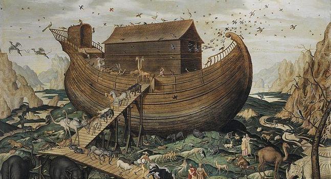 Simon de Myle - El arca de Noé sobre el monte Ararat (1570)