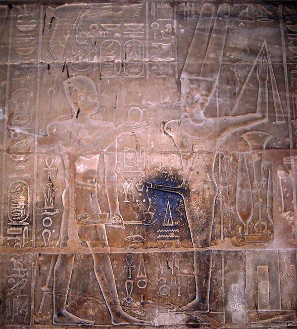 Templo de Luxor: Esperma del dios Amin (2)