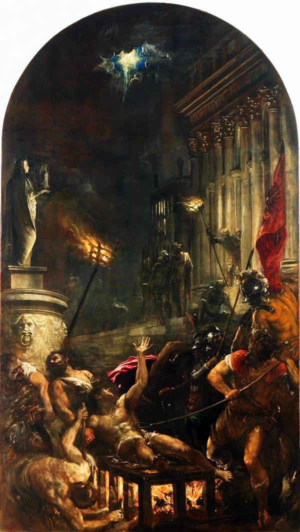 Tiziano: el martirio de San Lorenzo, 1558