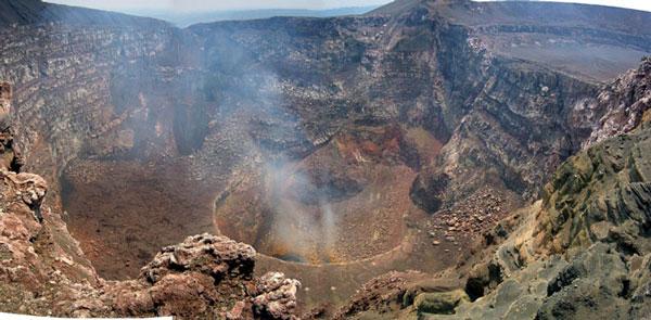 El Volcán Masaya: cráter