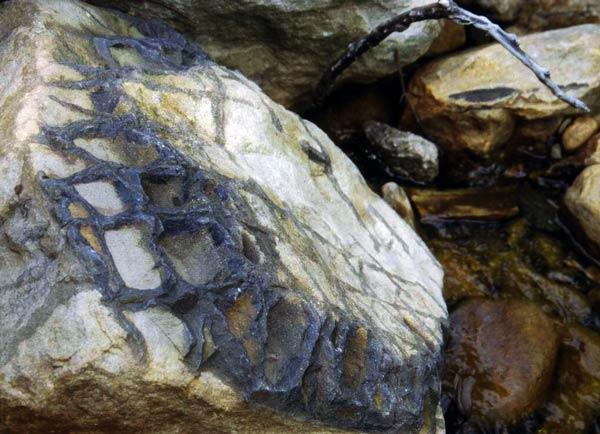 Waffle Rock: roca con patrón similar